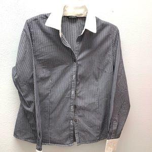 Shirt By George Ladies Medium Button (2)
